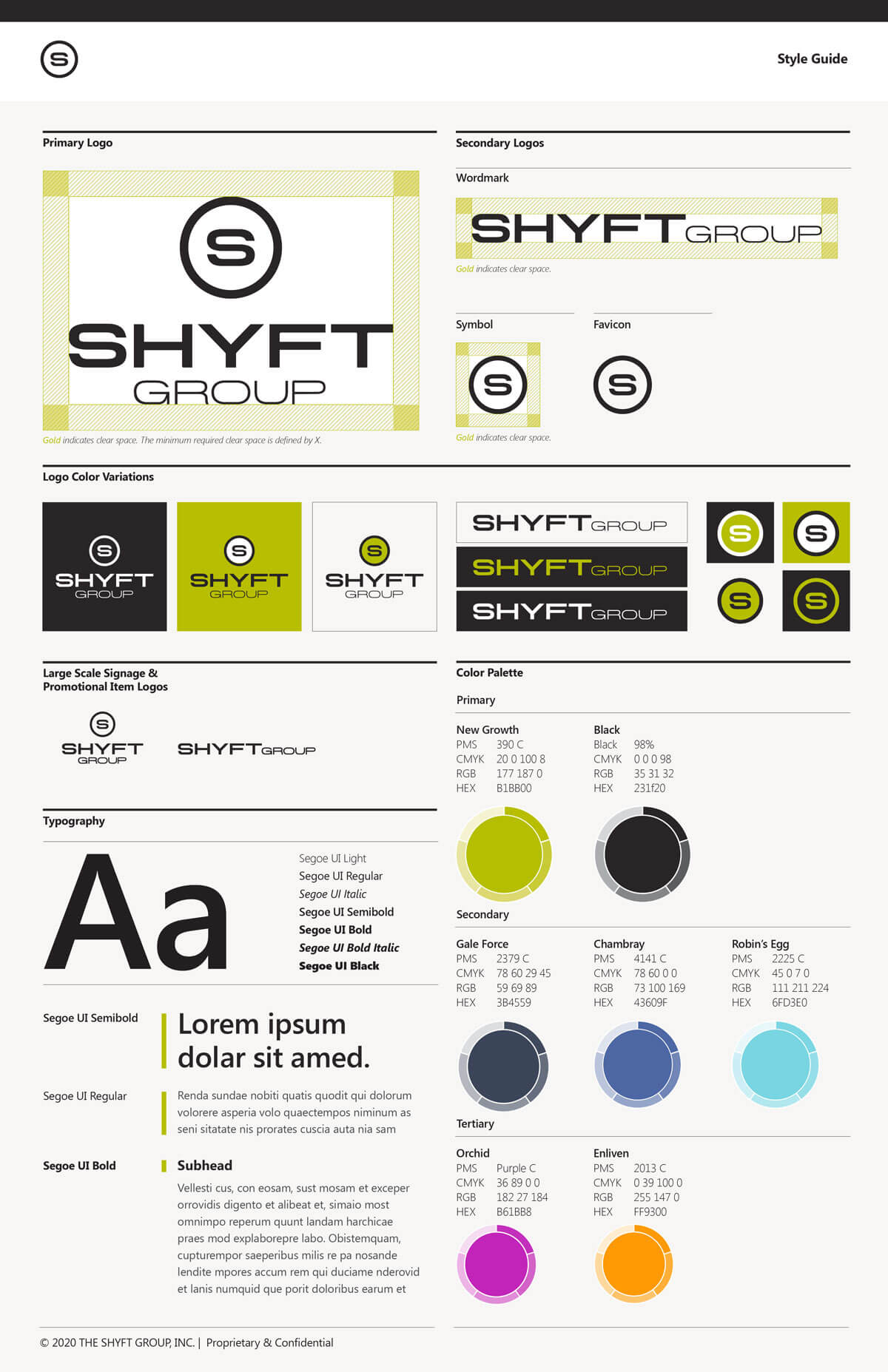 The Shyft Group web style guide